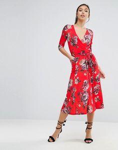 ASOS   ASOS Crepe Midi Dress in Floral Print