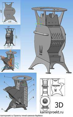 """Печь ракетная """"Принц"""" Чертежи, проектирование, изготовление, продажа 10000 рублей."""