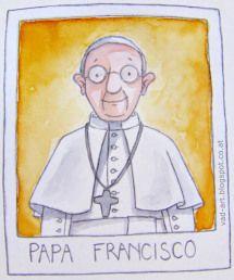 Papa Francisco by artist Sonja Hausl-Vad.