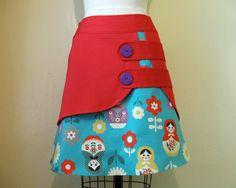 Babushka double layer skirt