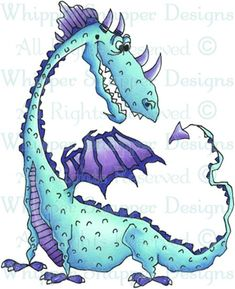 Whipper Snapper Designs is an expansive online store selling a large variety of unique rubber stamp designs. Animal Drawings, Cool Drawings, Baby Applique, Animal Cards, Dragon Art, Digi Stamps, Magical Creatures, Watercolor Cards, Print Pictures
