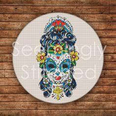 Cross Stitch Pattern - Sugar Skull
