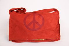 Handmade Laptop Bag / Messenger Bag  Peace Out by Bullabags, $40.00