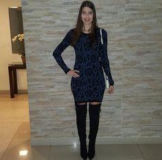 @lookbyus look do dia look of the day style work outfit fashion over The knee dress