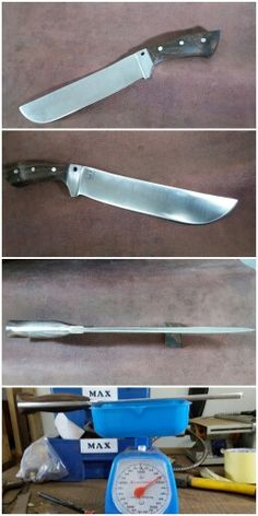 D2 tool steel Overall 15inch Blade 10 inch Handle 5 inch Thickness 12mm Subzero hardening  visit my facebook  5zone kustom knives