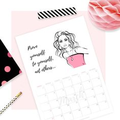free printable download march 2018 calendar #planner