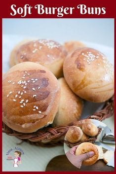 These soft burger buns are the best recipe you will ever make the next time you plan a burger feast. They are soft, fluffy, golden homemade hamburger buns Gluten Free Hamburger Buns, Homemade Hamburger Buns, Homemade Hamburgers, Best Appetizers, Appetizer Recipes, Carrot And Coriander Soup, How To Make Hamburgers, Baking Buns, Brioche