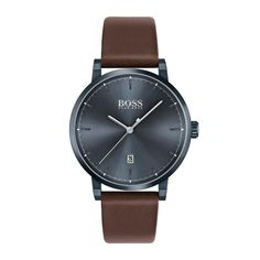 Shop the latest collection of BOSS Confidence Leather Strap Watch, from the most popular stores - all in one place. Similar products are available. Hugo Boss Watches, Watches For Men, Black Face Watch, Brown Leather Strap Watch, Boss Black, Metallic Blue, Shell Pendant, Smooth Leather, Bracelet Watch