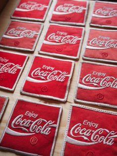 ecusson veste livreur coca cola stock vintage