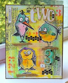 Kath's Blog......diary of the everyday life of a crafter: Two's Company... using Tim Holtz, Ranger, Idea-ology, Sizzix and Stamper's Anonymous products; Mar 2015
