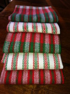 Holiday twill towels