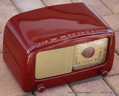 Philco Modern Mid Century Tube Radio 48 225 Hear It Play and See The Dial Light   eBay