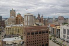 A view of downtown Milwaukee from the 17th floor of the Milwaukee Gas Light Building.