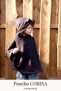 Poncho Schnittmuster CORINA hat ein Update erfahren: Jetzt gibt es den Poncho mit Kapuze - Zipfelkapuze und normal, und mit Tierohren, um ein Kostüm zu nähen! #nähenfürkinder #kostümnähen #kostümfürkinder Babys, Crafting, Blog, Fashion, Babies, Moda, Fashion Styles, Baby, Crafts To Make