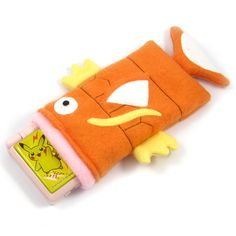 Magikarp open mouth pokemon nintendo ds case pouch fleece camera carrying case 3ds / dsi / ds Lite / psp holder
