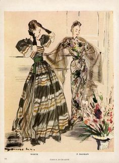 Demachy 1946 Worth & Balmain, Evening Gown