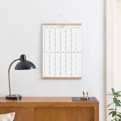 With its clear and reduced structure, the calendar gives space for the year … - Modern Home Decor Mirrors, Calendar, Simple, Wall, Blog, Furniture, Modern, Design, Life