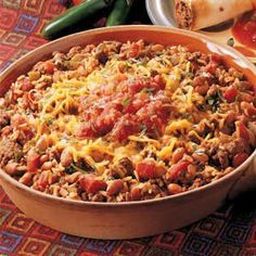 Texas Recipes - Texas-style skillet.  This is an easy to fix meal that goes together quickly after work