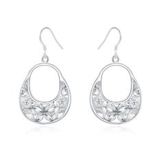 Lady/'s New Feel 18K Plaqué Or Rose Clair Zircone cubique Dangle Earrings