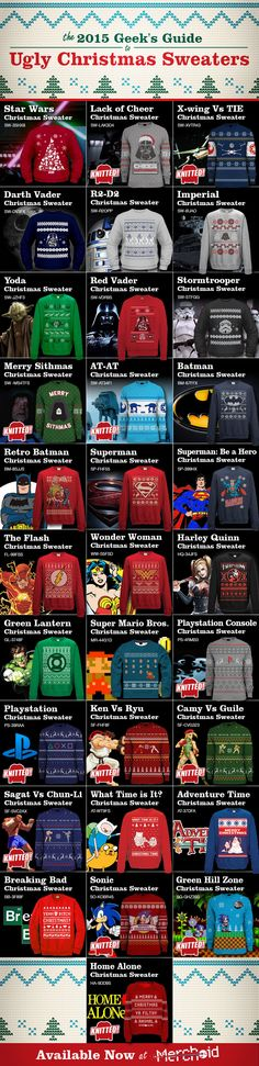 The 2015 Geek's Guide to Official Christmas Jumpers/Sweaters from Star Wars, Batman, Superman videogames and more!