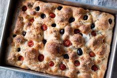 A recipe for a simple focaccia with a golden, crisp crust and chewy interior. Use your already mature sourdough starter to make this easy & delicious bread! Sourdough Recipes, Sourdough Bread, Bread Recipes, Baking Recipes, Starter Recipes, High Protein Flour, Protein Bread, Foccacia Recipe, Dessert Bread
