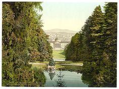[Glimpse of castle and city from Holle, Wilhelmshohe, Cassel (i.e., Kassel), Hesse-Nassau, Germany]