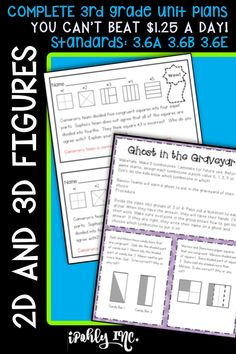 Spend less time prepping for your 3rd grade #math #lessonplans and more time teaching!  Here is a priceless bundle that includes stations, games, activities, teacher tools and everything you need for 10 days of math lessons!  #3rdgrade #classroom #school #3D #2D #mathgames #mathworksheets    For more resources to simplify your teacher life, visit ipohlyinc.com!