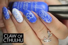 Sally Hansen Pacific Blue (2009 formula) with Nailz Craze stamping http://www.clawofcthulhu.com/