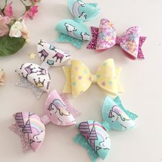 Unicorn Dreams Bows  Unicorn Bow  Unicorn by RosesandBowsShop