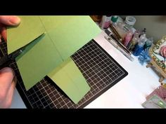How to make a cascading card.Great tutorial. I love the card she shows at the end.