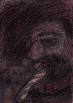 """Drawing: Pastel on Paper.   Size: 11.7 H x  8.3 W x  0  in   King """"The Vizier"""". Responsible for the basic theoretical aspects of strategic planning. Man of Leading Educational and Research Center (in most dependent states he is university rector).   All the characters are fictional, representing types of people. There are not portraits of real man or woman."""