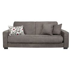 Home Smoky Gray Upholstered Convert-A-Couch Sofa $449