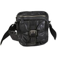 Black 8″ Shoulder Leather Bag – David « Clothing Impulse