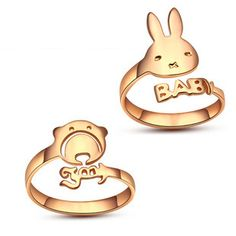 Monogram name couples rings, personalized monogram rings with your own design, diy ring