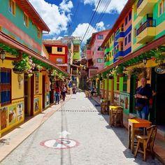 You'll enjoy walking through the colorful streets in Guatapé, a little town near Medellín, #TheBestOfColombia. Photo: @steve_quinn Disfrutarás caminar por las coloridas calles de Guatapé, un pueblito cerca de Medellín, #LoMejorDeColombia #Colombia #Travel #Amazing #Backpacker #Tourist #Tourism #Landscapes #IgersColombia #Colombia_GreatShots #Instatravel #Travelgram #PicOfTheDay #WanderLust #BestPlacesToGo #LatinAmerica #SouthAmerica #endlesstraveling #lovetheworld