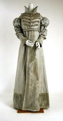 Pelisse,1820, MET from: http://buttonsandboning.tumblr.com/post/9697842139/pelisse-c-1820-late-federal-period  http://www.metmuseum.org/works_of_art/collection_database/the_costume_institute/dress_pelisse/objectview.aspx?page=18&sort=1&sortdir=asc&keyword=dress&fp=16&dd1=8&dd2=0&vw=1&collID=8&OID=80006367&vT=1&hi=1&ov=0