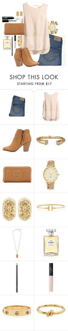 """""""Don't you dare forget the sun"""" by anna-watson00 ❤ liked on Polyvore featuring Abercrombie & Fitch, H&M, Charlotte Russe, Melinda Maria, Tory Burch, Kate Spade, Kendra Scott, Tiffany & Co., Chanel and MAC Cosmetics"""