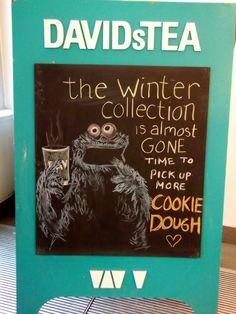 Sandwich Board Art - Cookie Monster - DAVIDsTEA Bloor Annex