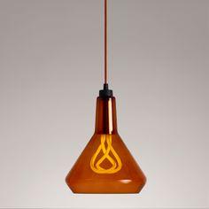 Plumen  Pendant Set - Amber/Copper - Trouva