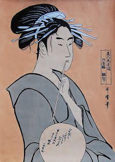 Hinakoto, The Courtesan - Após Kitagawa Utamaro