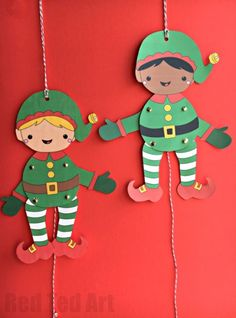 Easy Elf Paper Puppet for Christmas. How CUTE are these darling Elf Puppets? A free printable for all to enjoy this Christmas season. Get creative and colour your own! Short on time, make use of the handy coloured versions. Adorable. Super fun Christmas Elf Paper Puppets! #ChristmasCarfts #Crafts #ChristmasPrintables #Printables #Templates #Elfprintable #paperpuppets #puppettemplates #Christmaself #elves #multicultural