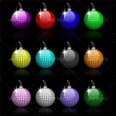 Realistic Graphic DOWNLOAD (.ai, .psd) :: http://vector-graphic.de/pinterest-itmid-1000074113i.html ... 12 x Christmas Baubles ...  bauble, black, blue, clean, decoration, glossy, green, modern, orange, red, seasonal, seasonal, silver, xmas, yellow  ... Realistic Photo Graphic Print Obejct Business Web Elements Illustration Design Templates ... DOWNLOAD :: http://vector-graphic.de/pinterest-itmid-1000074113i.html