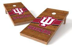 Indiana Hoosiers Cornhole Board Set - Logo (w/Bluetooth Speakers)