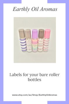 Do you need a label for your bare roller bottles. Earthly Oil Aromas have you covered. Lots of label designs to choose from. 100% water & oil proof labels.