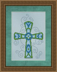 cross stitch cross patterns free | Beautifully adorned fancy cross – more to come in the series.