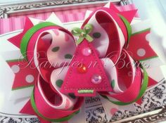 I checked out Pink Christmas Hair Bow on Lish, $9.50 USD