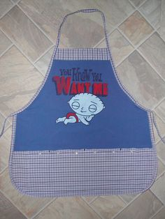 Stewie You Know You Want Me Apron or Adult Bib by funfoodsaprons on Etsy