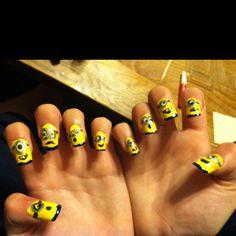 Minion nails by MK