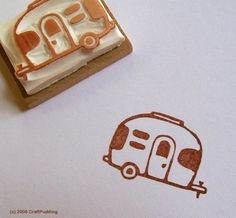 airstream+trailer++hand+carved+rubber+stamp+by+craftpudding,+$12.00