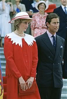 June 29, 1983: Prince Charles & Princess Diana at a welcome ceremony at the Legislature Building in Edmonton, Alberta. (Day 16)